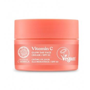 Crema de zi iluminatoare cu vitamina C & niacinamida, FPS20 - C-BERRICA