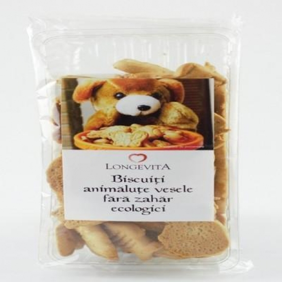 Biscuiti Animalute Vesele 140gr -Eco- Longevita
