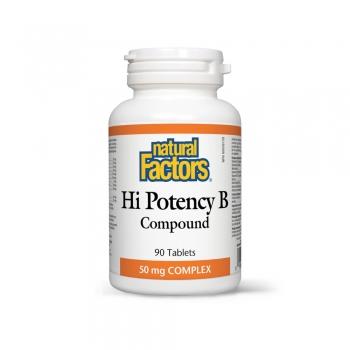 Vitamina B COMPLEX HIGH POTENCY – COMPLEX DE B-URI PENTRU SANATATEA SISTEMULUI NERVOS