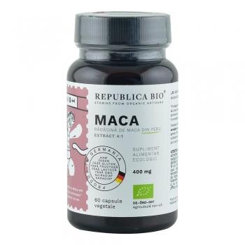 Maca Ecologica din Peru (400 mg - extract 4:1) Republica BIO, 60 capsule