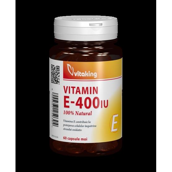 Vitamina E naturala 400 UI - 60 capsule gelatinoase