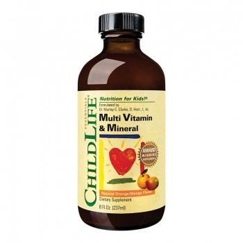 Multi Vitamine & Minerale pentru copii - 237ml (gust de portocale/mango) - CHILDLIFE