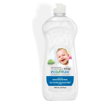 Solutie spalat vase si biberoane, cu aloe vera, pentru bebelusi, Ecomax, 740 ml