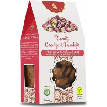 Biscuiti vegani cu coacaze si trandafiri (fara zahar adaugat) 150 g - AMBROZIA