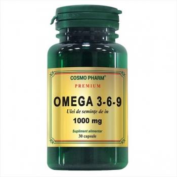 Omega 3-6-9 Ulei de seminte de in 1000 mg