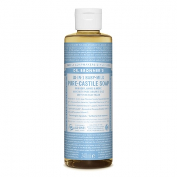 Sapun lichid de Castilia 18-in-1 Inodor, pentru bebelusi si piele sensibila, 240 ml