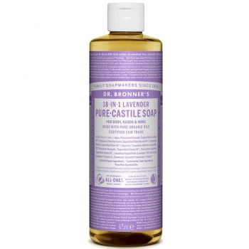 Sapun lichid de Castilia 18-in-1 Inodor, pentru bebelusi si piele sensibila, 475 ml