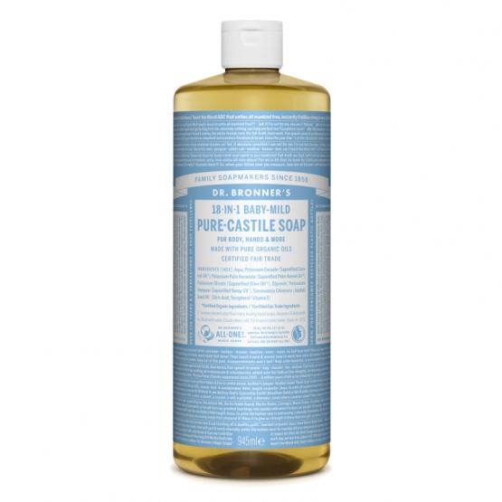 Sapun lichid de Castilia 18-in-1 Inodor, pentru bebelusi si piele sensibila, 945 ml