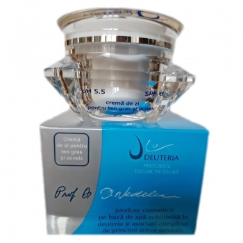 Crema de zi pentru ten gras si acneic 50 ml. - Deuteria Cosmetics