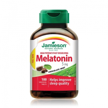 MELATONIN (melatonina) - regulator somn, 5 mg - 100 tablete / JAMIESON