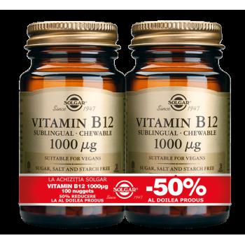 Vitamin B-12 1000mg nuggets 100cps PACHET 1+1-50%