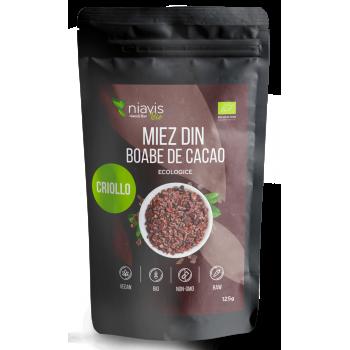 Miez din Boabe de Cacao Criollo Ecologice/BIO 125g