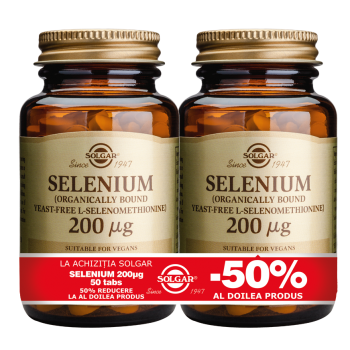 Selenium 200mcg 50 tablete PACHET 1+1-50%