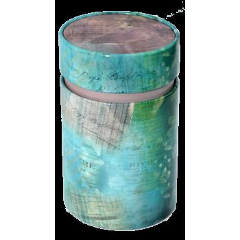 Cutie pentru ceai vintage  cu capac interior (Albastra) 150g