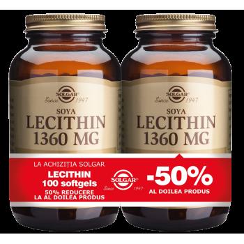 Lecithin 1360mg 100cps moi PACHET 1+1-50%
