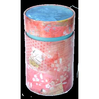 Cutie pentru ceai vintage cu capac interior (Rosie) 150g