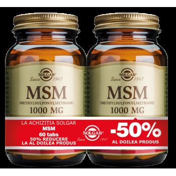MSM 1000mg 60 tablete PACHET 1+1-50%