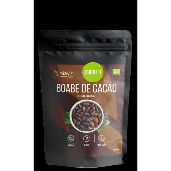 Boabe de cacao intregi Ecologice/Bio 250g