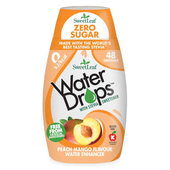 Water Drops - Indulcitor pentru Apa cu Piersica si Mango 48ml