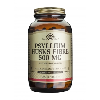 Psyllium Husks Fibre 500mg, 200veg caps