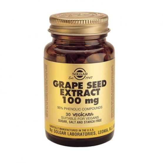 Extract din seminÈ›e de struguri / Grape Seed Extract 100mg 30cps