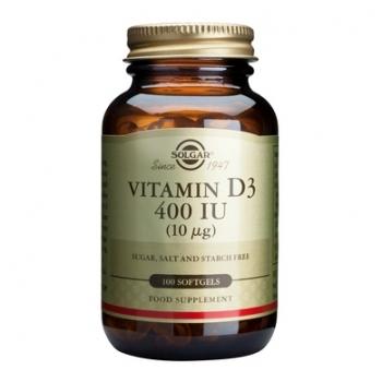 Vitamin D3 400 IU softgels 100s