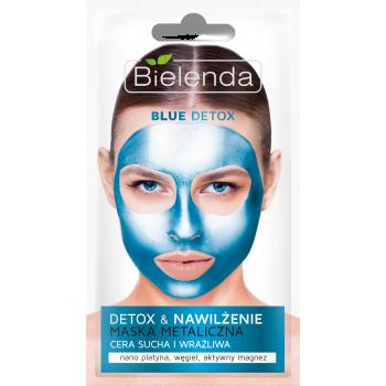 BLUE DETOX Masca Metalica Detoxifianta pentru Ten Uscat si Sensibil 8g