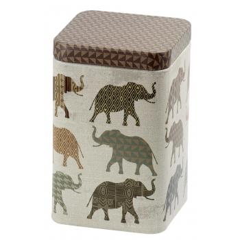 Cutie metalica patrata cu elefanti 100g