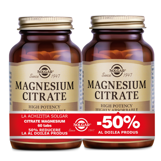 Citrate Magnesium 200mg 60cps PACHET 1+1-50%