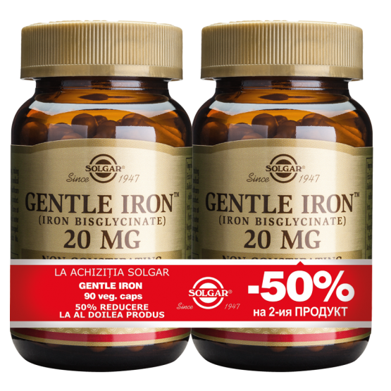 Gentle Iron 20mg 90cps PACHET 1+1-50%