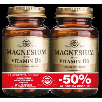 Magnesium + B6 100 tablete PACHET 1+1-50%