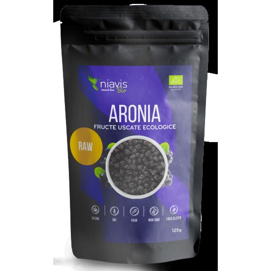 Aronia Fructe Uscate Raw Ecologice 125g