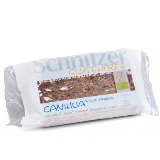 Paine CANIHUA Fara Gluten, cu Canihua si Seminte de Dovleac, ecologica - BIO SCHNITZER - 250 g