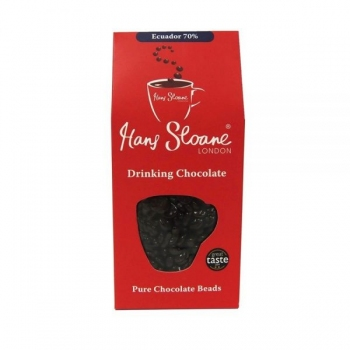 Perle de ciocolata calda neagra din Ecuador 70%  - 270g - HANS SLOANE