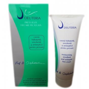 Crema hidratanta, emolienta si antiseptica pentru picioare - 75 ml - Deuteria