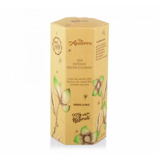 Ser intensiv restructurant, cu miere de salcam, peptide naturale, laptisor de matca, Apiterra, 30 ml