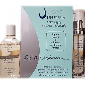 Set lotiune tonica si calmanta pentru ten sensibil - 130 ml- Deuteria Cosmetics