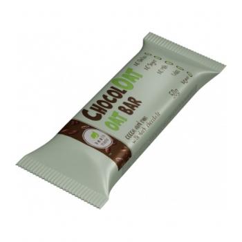 Baton ovaz cu ciocolata neagra fara gluten si zahar cu gust de cacao si rom - 50g