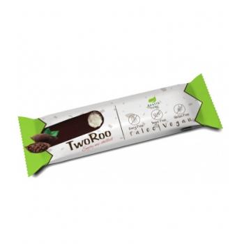Baton lamaie si vanilie TwoRoo invelit in ciocolata cu alune fara zahar - 30g