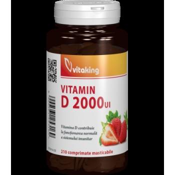 Vitamina D 2000UI masticabila - 210 comprimate