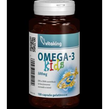 Omega 3 natural pentru copii - 100 capsule gelatinoase