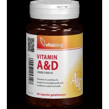 Vitamina A si D (10.000/ 1.000 UI) - 60 capsule gelatinoase