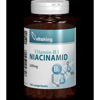 Vitamina B3 (niacinamida) 500mg - 100 comprimate