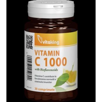 Vitamina C 1000 mg cu bioflavonoide, acerola si macese - 30 comprimate