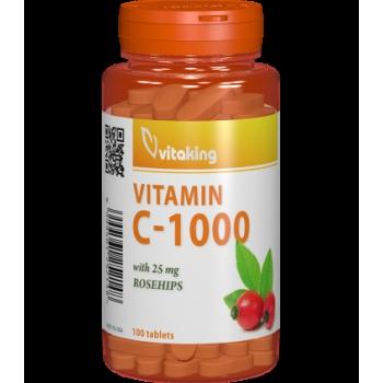 Vitamina C 1000 mg cu macese - 100 comprimate