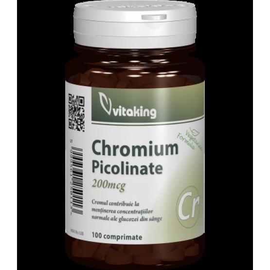 Picolinat de crom 200mcg - 100 comprimate