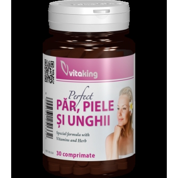 Supliment natural pentru par, piele si unghii - 30 comprimate