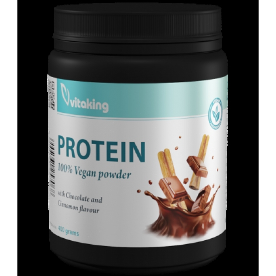 Proteina vegetala cu gust de scorțișoara si ciocolata - 400g