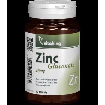 Gluconat de zinc 25 mg - 90 comprimate