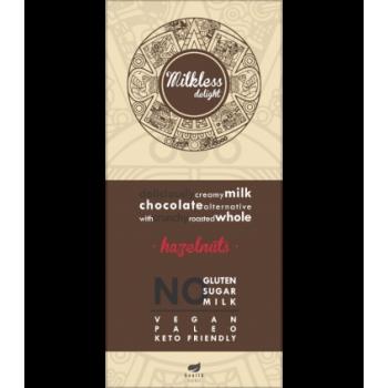 Ciocolata cremoasa cu alune fara gluten, lapte si zahar cu alune - 80g